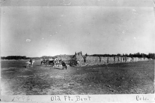 Old Fort Bent in 1886