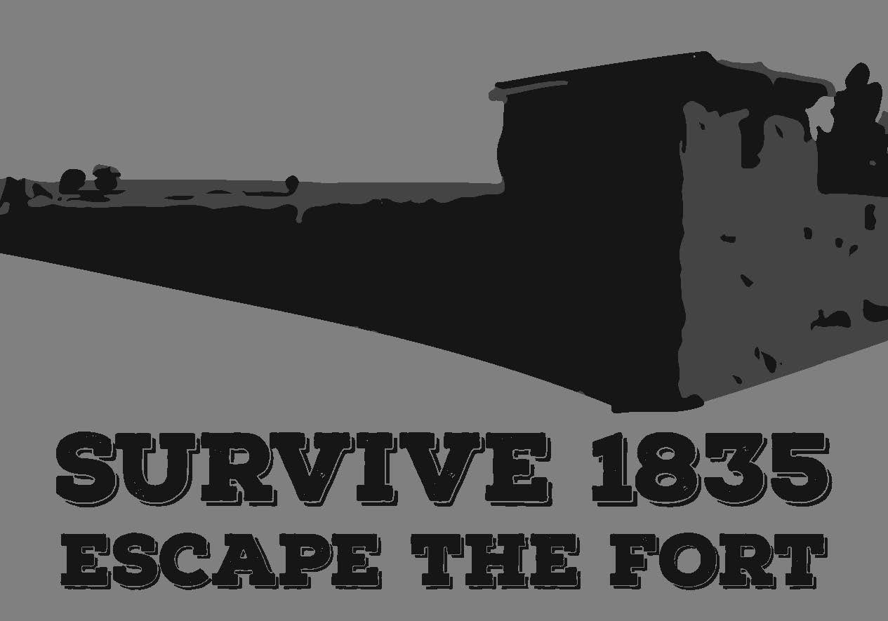 Survive 1835 Fort Vasquez escape room logo