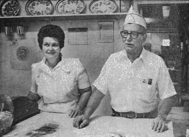 Testas inside Frangi's, 1979