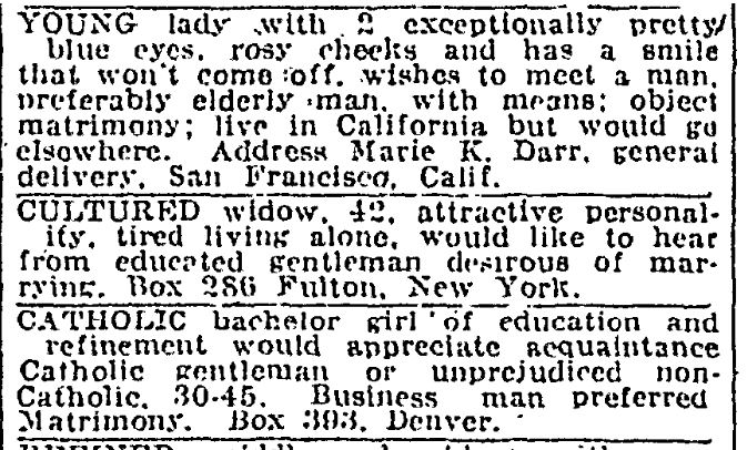 newspaper ads from 1924