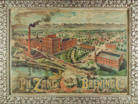 lithograph of Zang Brewery