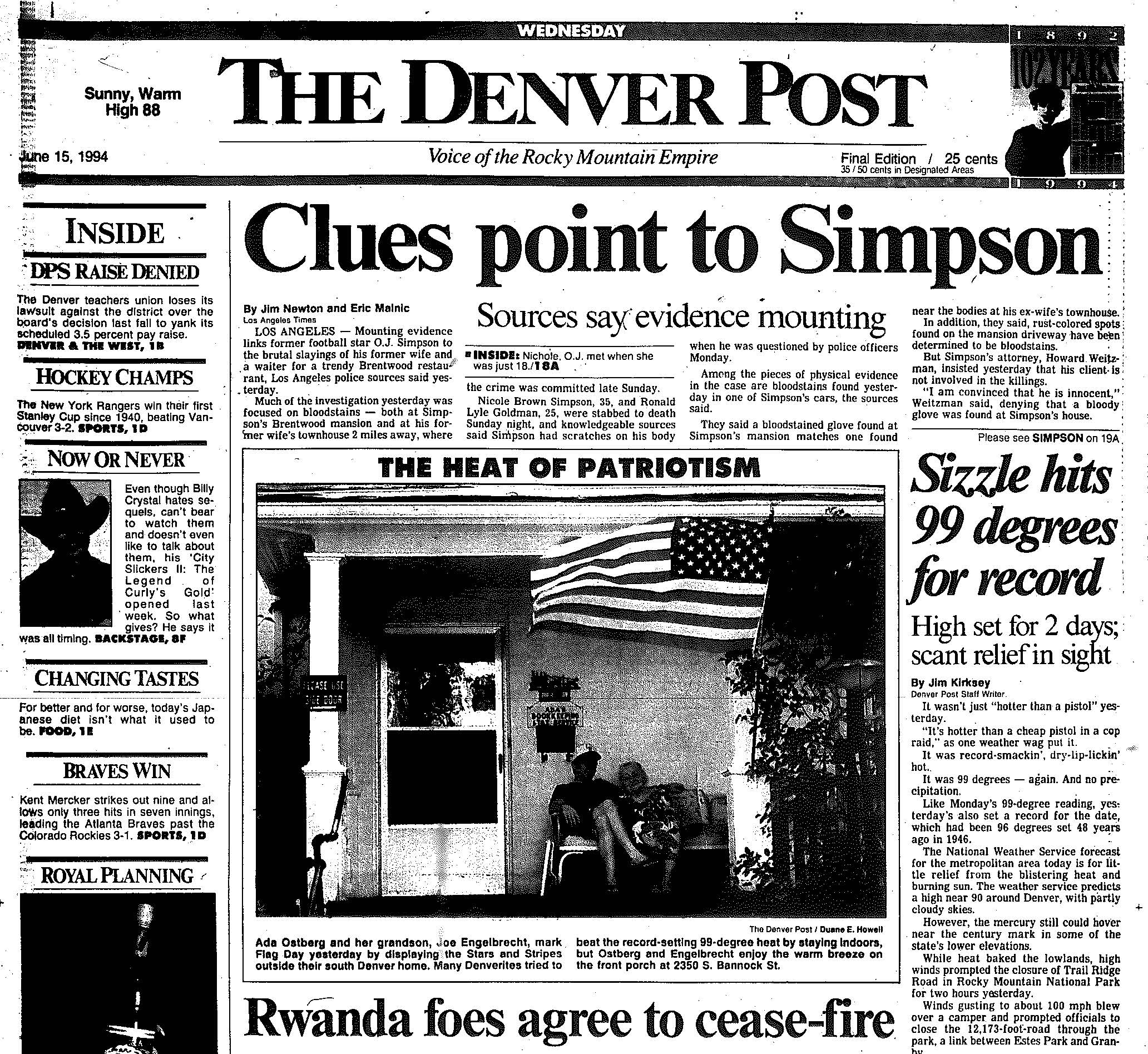 Denver Post June 15 1994