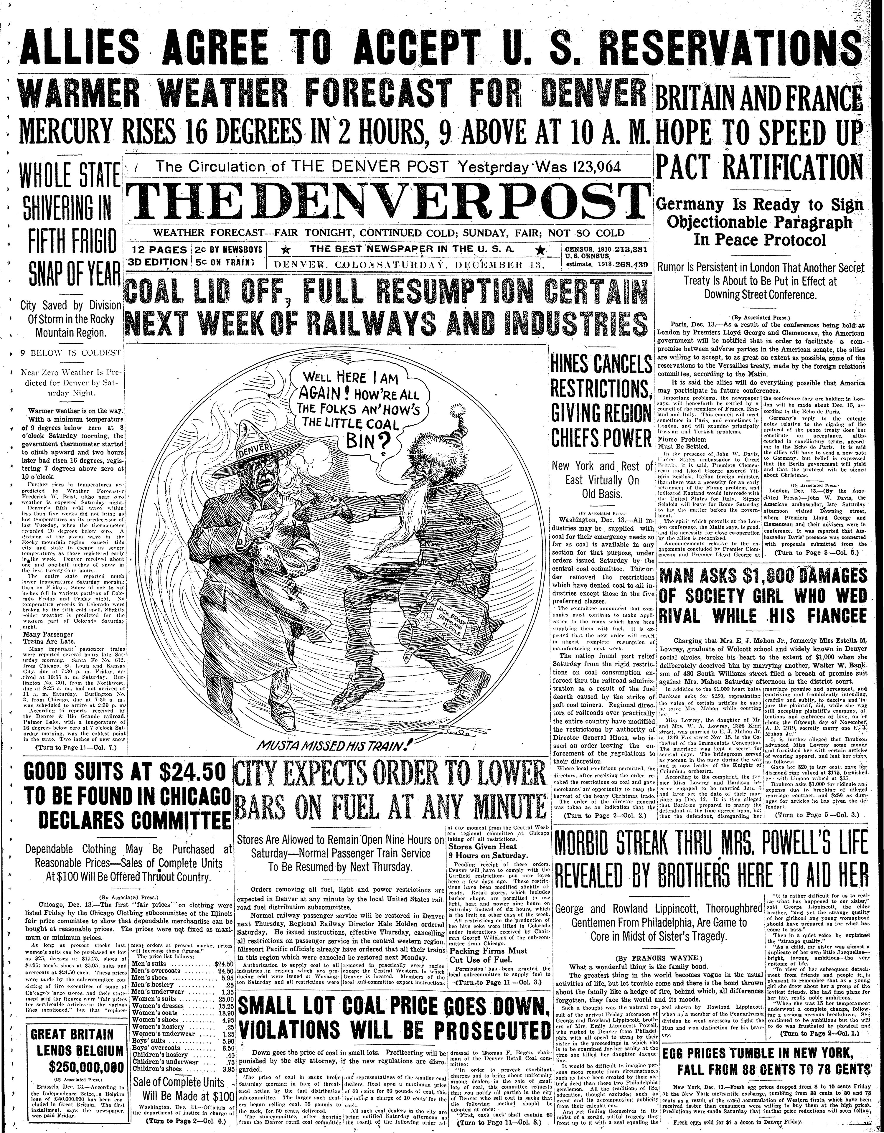 The Denver Post December 13, 1919