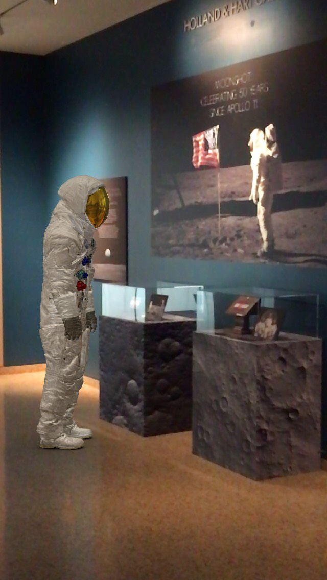 Alternate Reality image of Neil Armstrong at Apollo 11 Exhibit