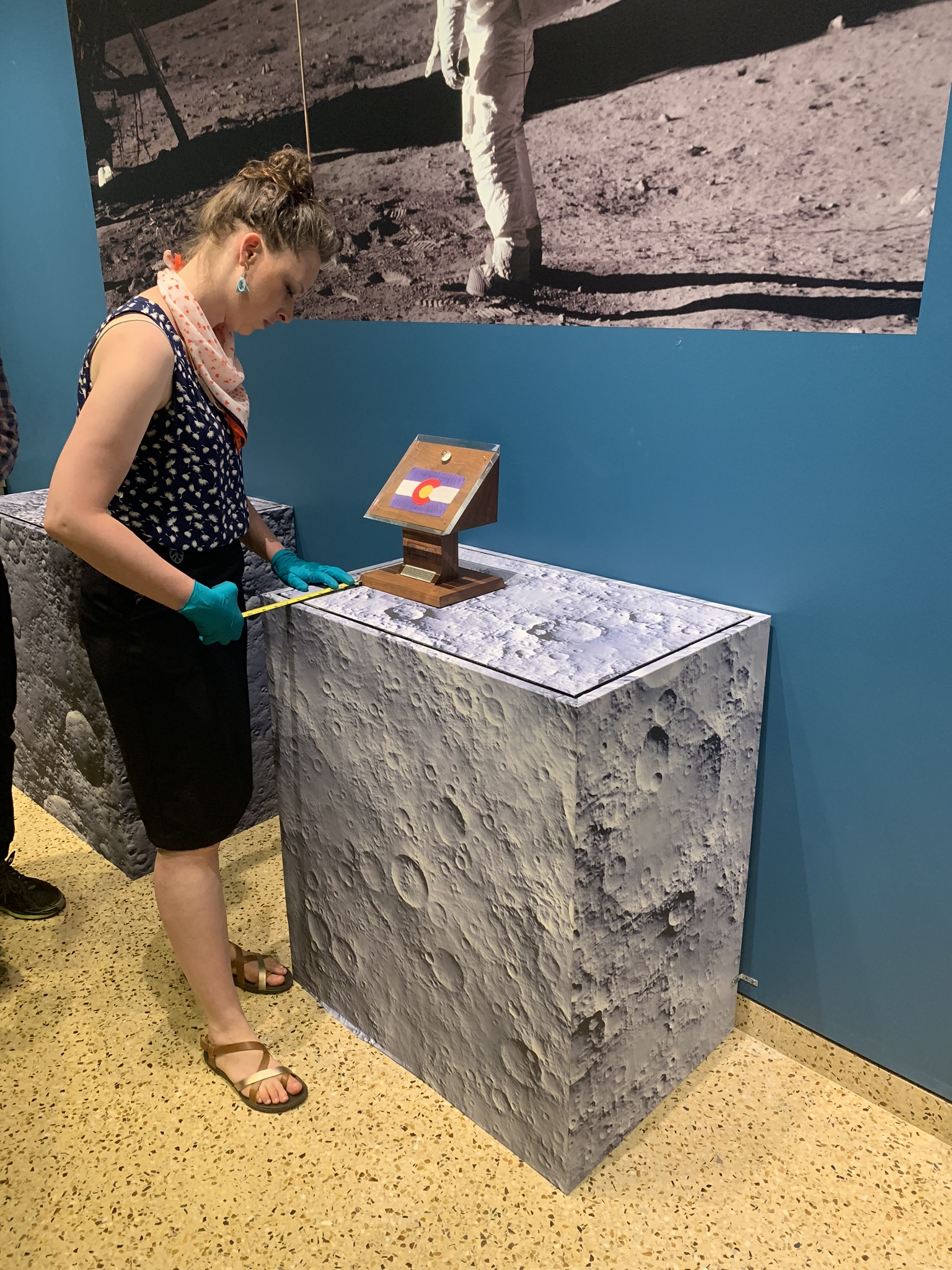 Photo of Kimberly Kronwell at Apollo 11 Exhibit