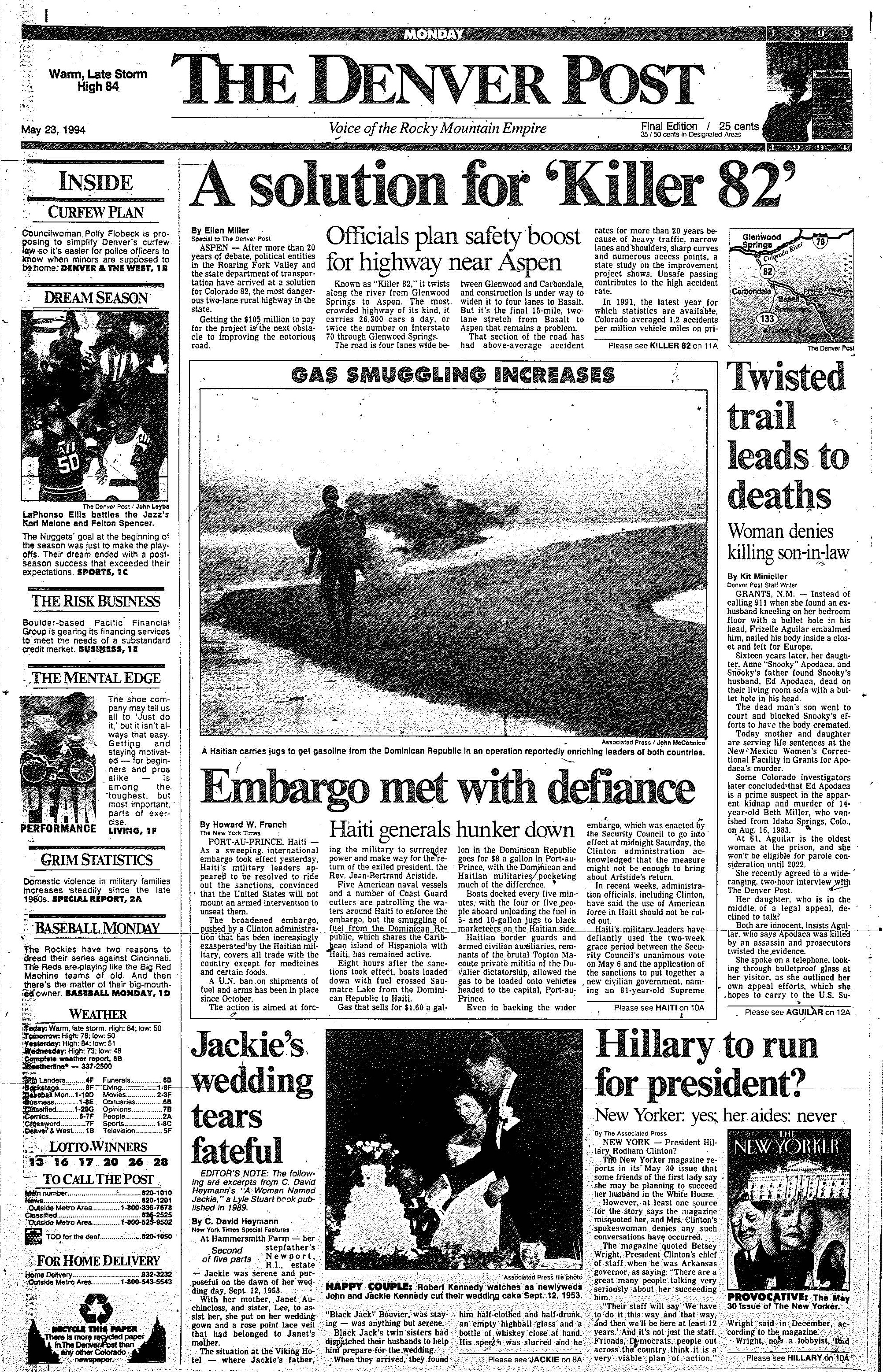Denver Post May 19-25, 1994