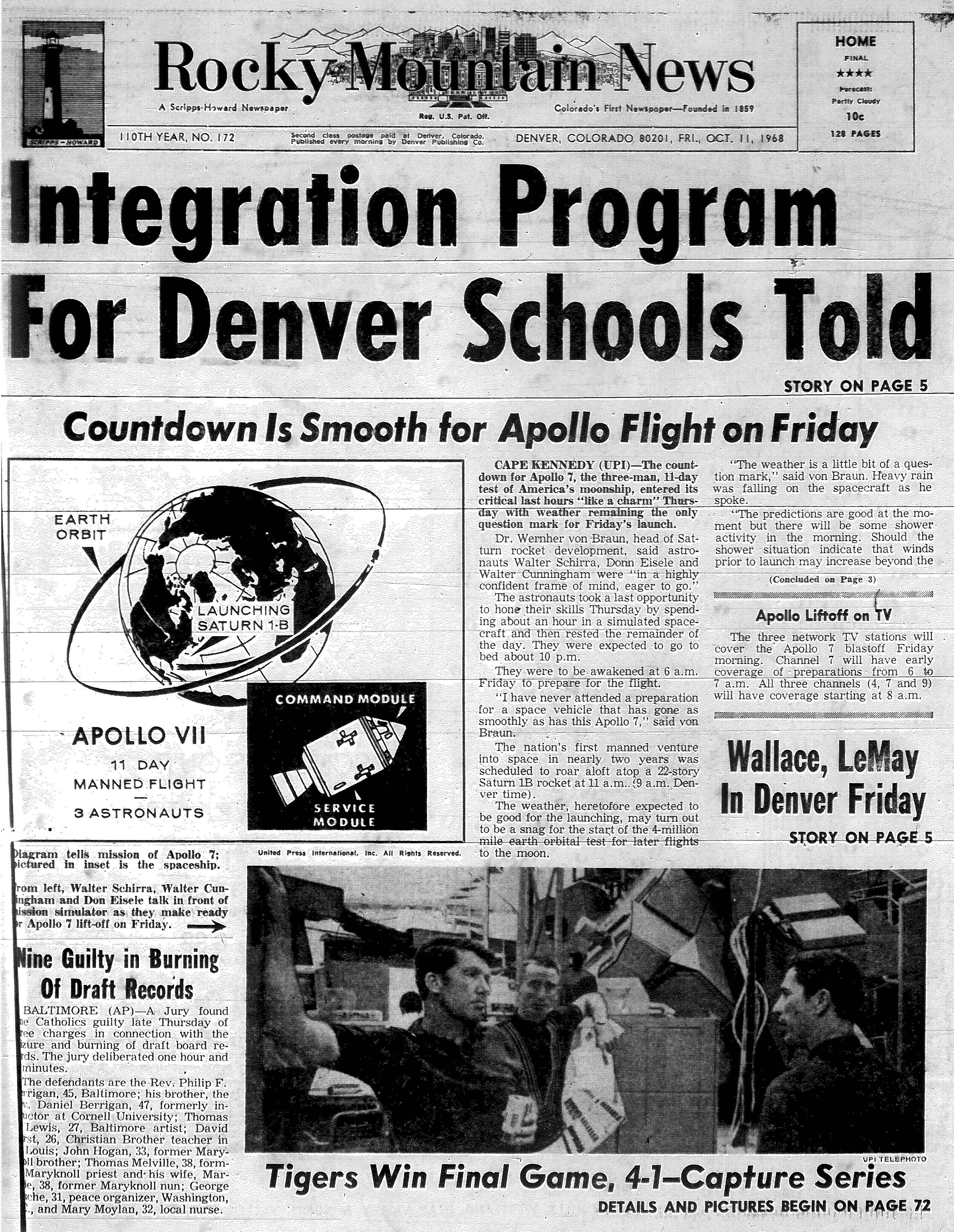 Rocky Mountain News October 11, 1968