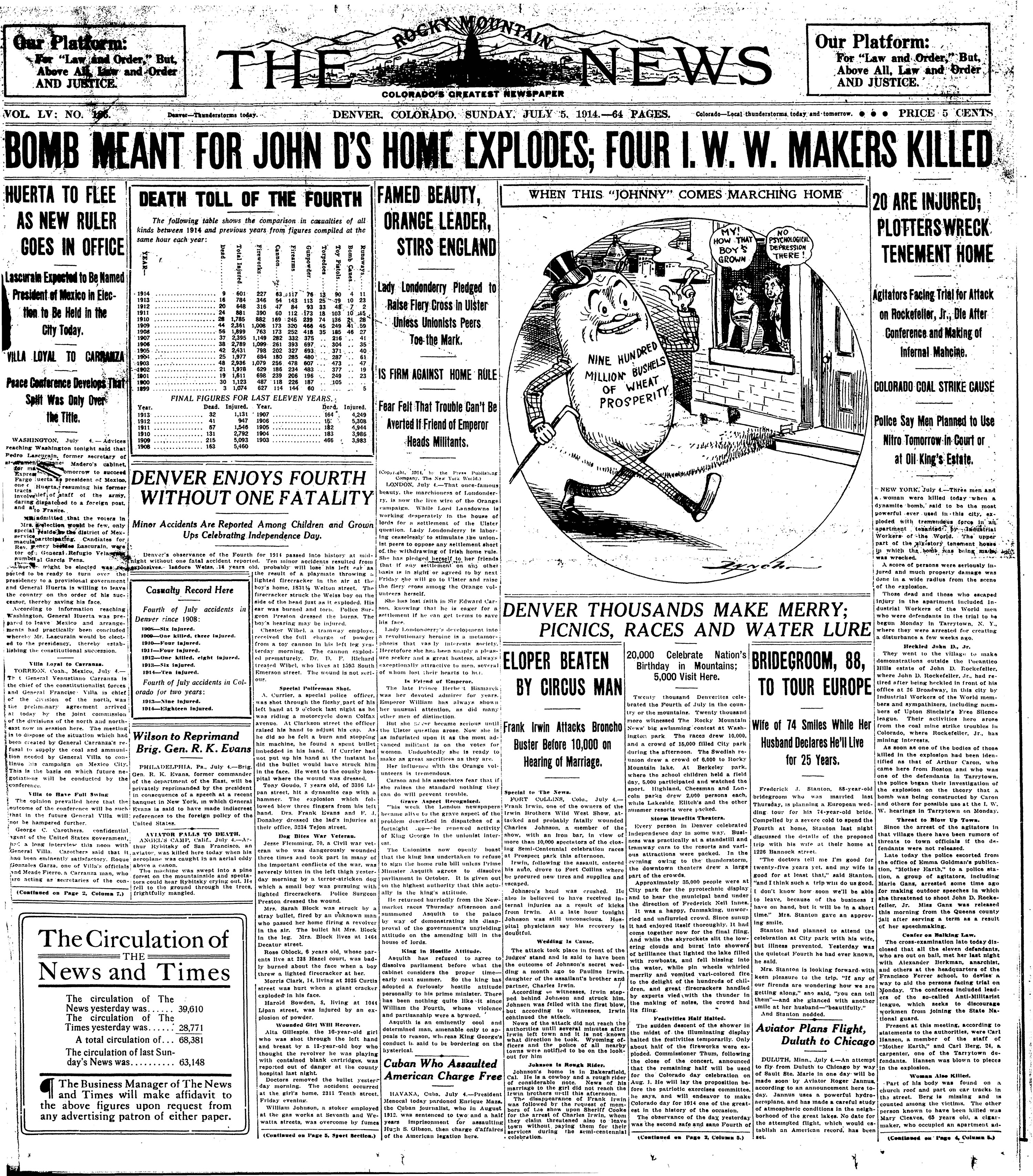 Rocky Mountain News July 5 1914