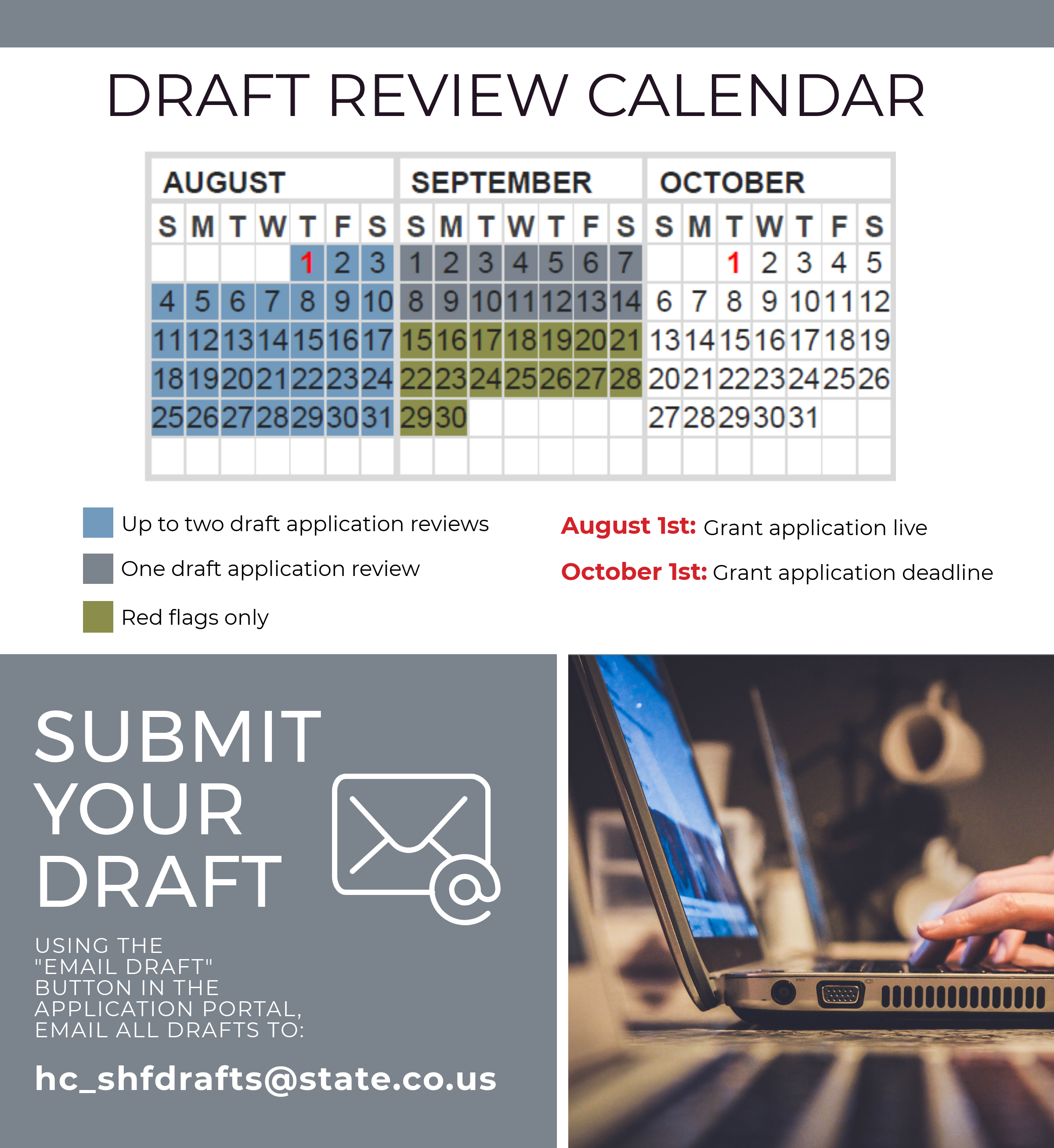State Historical Draft Review Calendar