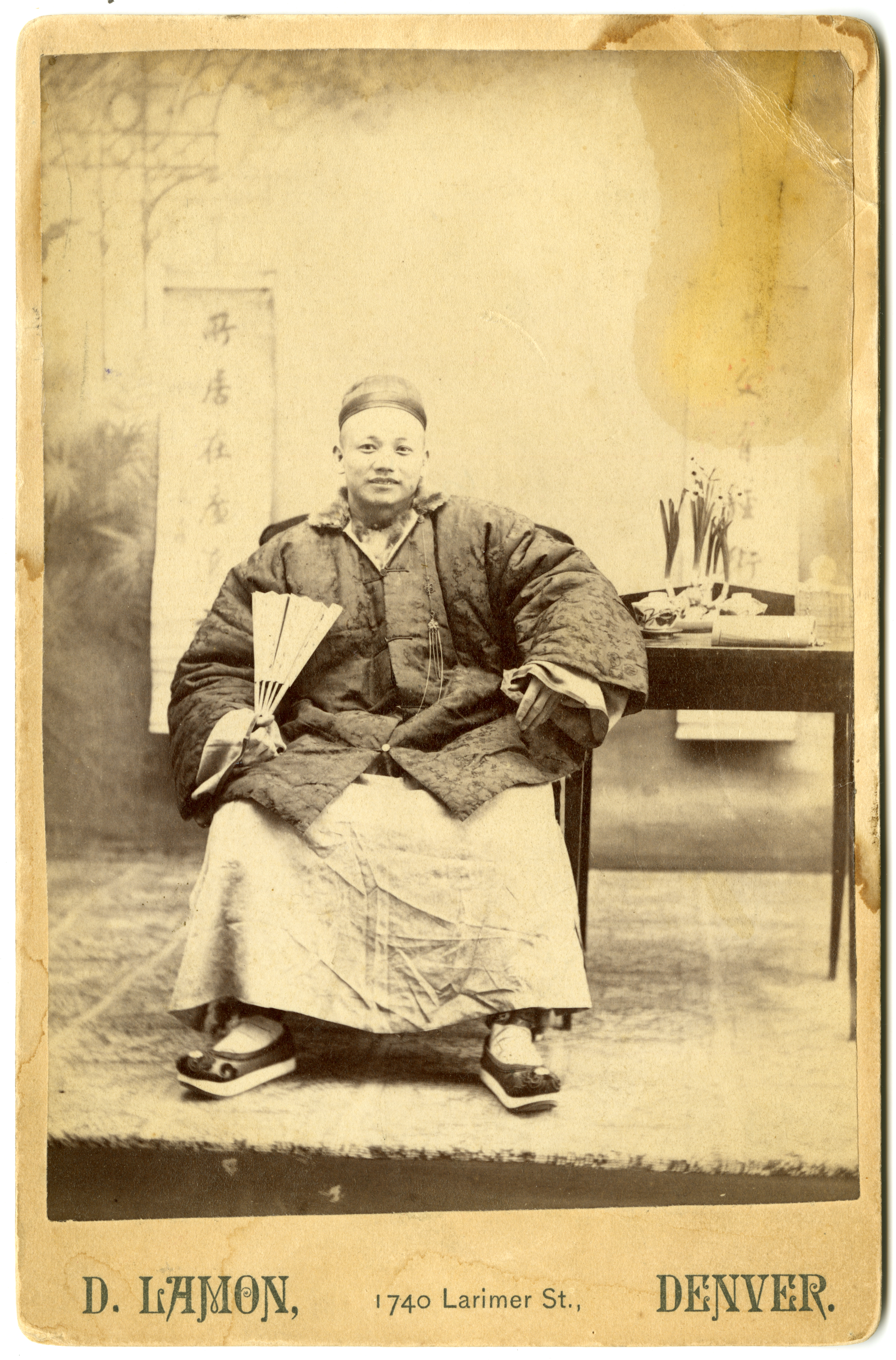 1880 studio portrait of Chinese man