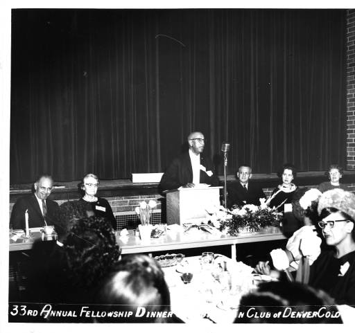 photo of Clarence Holmes with Cosmopolitan Club in 1964