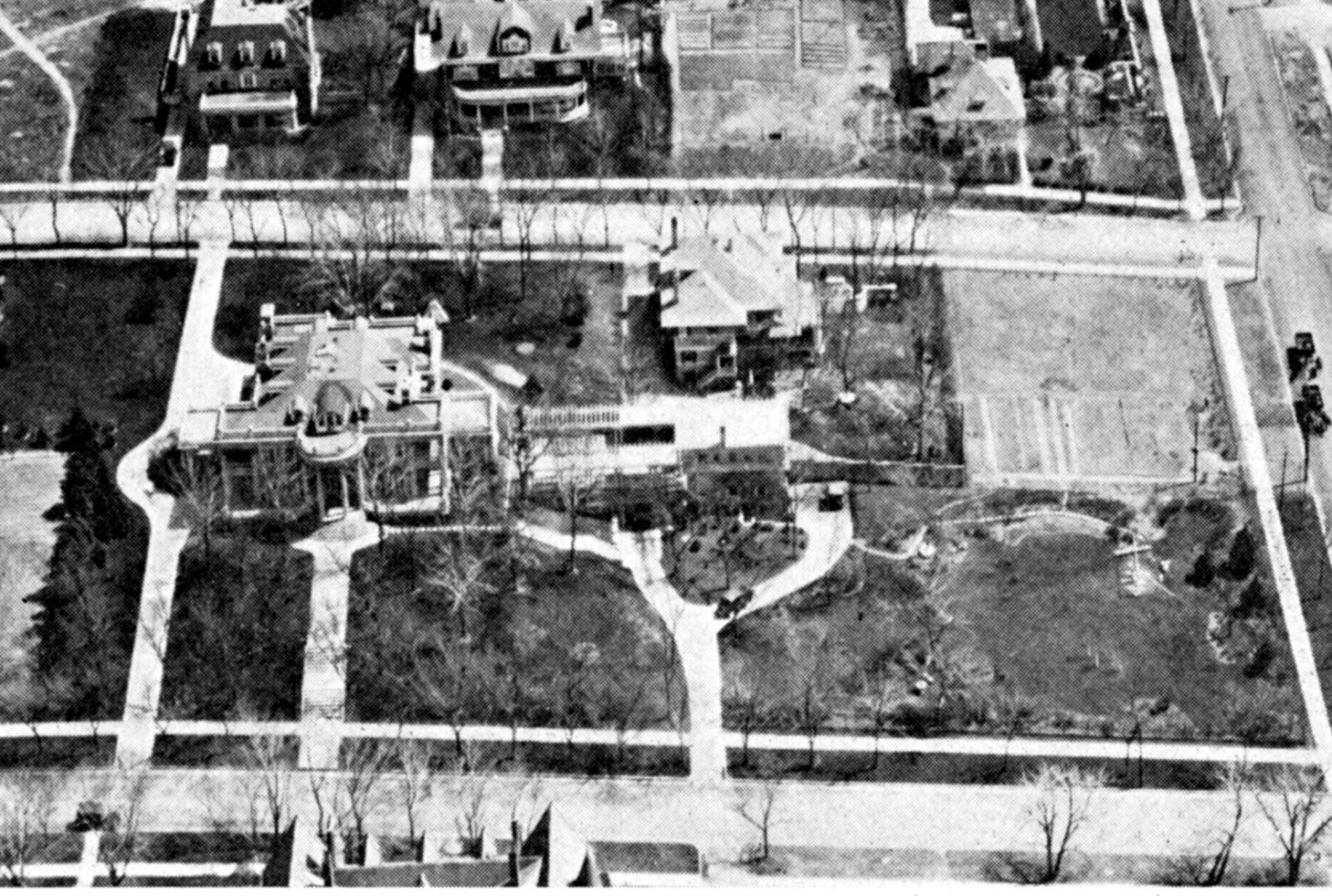 aerial view of Humphreys mansion