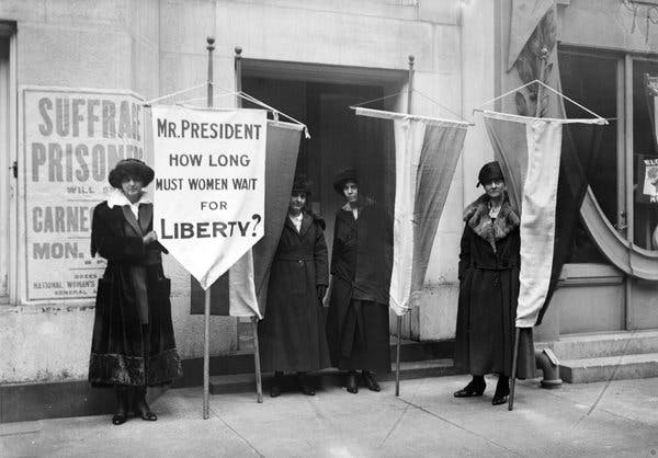 suffragists protesting