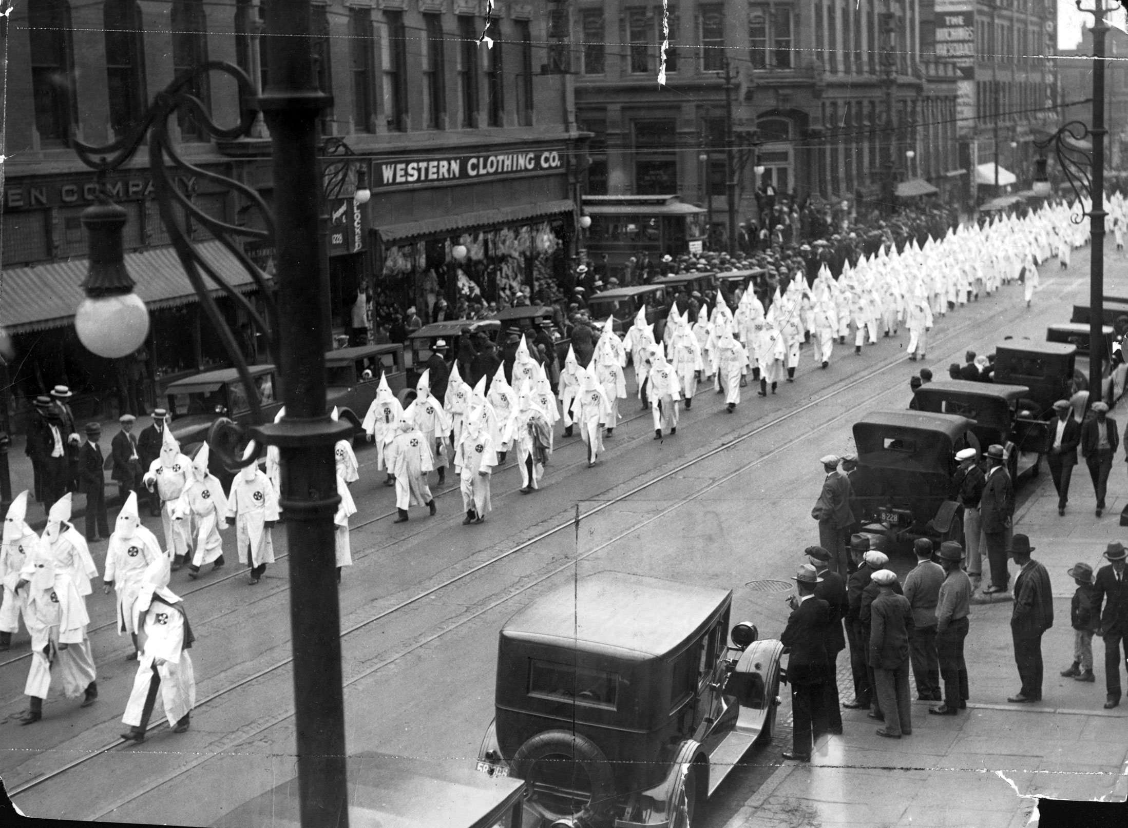 KKK marching through downtown Denver