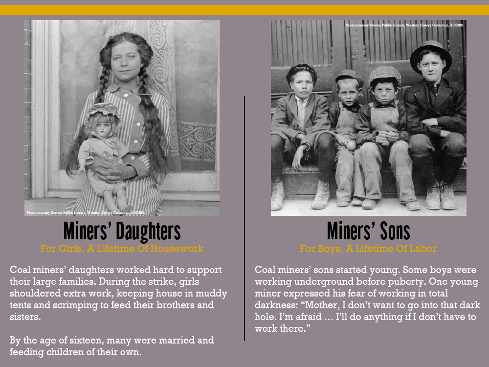Miners Daughters and Sons