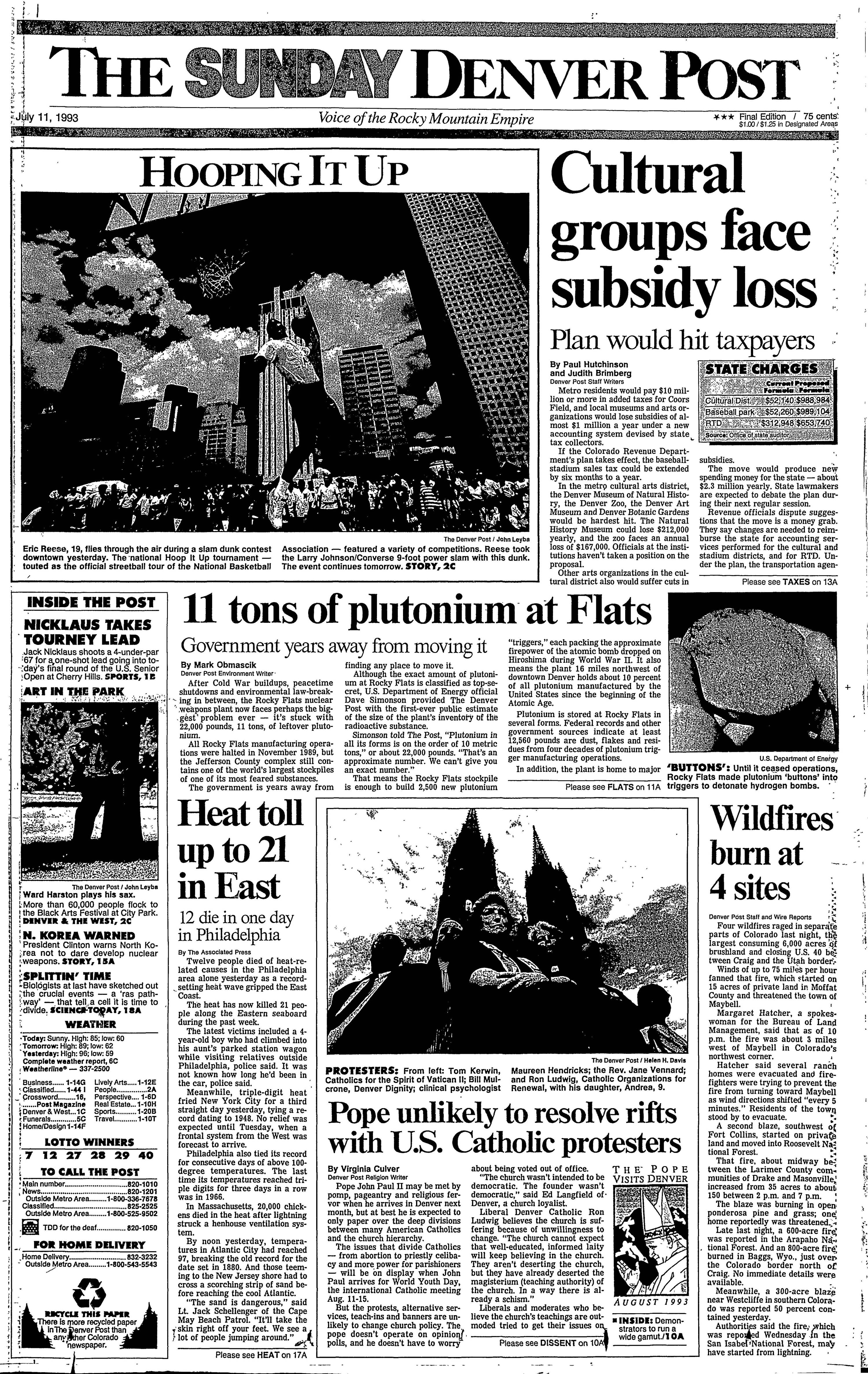 Denver Post July 11 1993