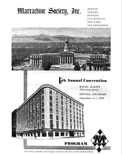Convention Program Cover, Mattachine Society Annual Convention, Denver, CO September 1959