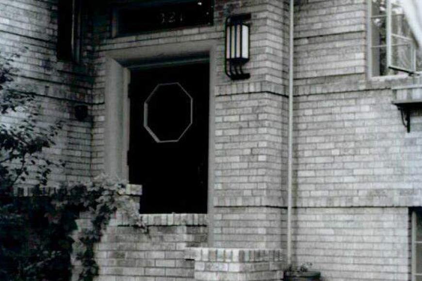 Entry way at the Stanley Arms Apartments, 1998