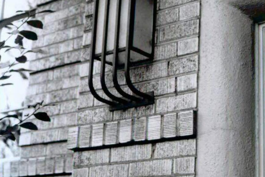 Light detail at the Stanley Arms Apartments, 1998