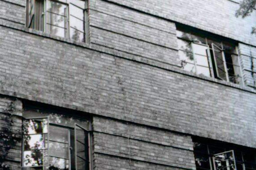 Windows and brickwork at the Stanley Arms Apartments, 1998