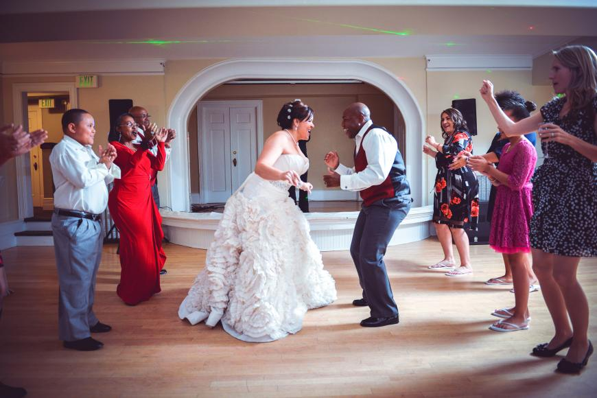 GHM bride and groom dancing