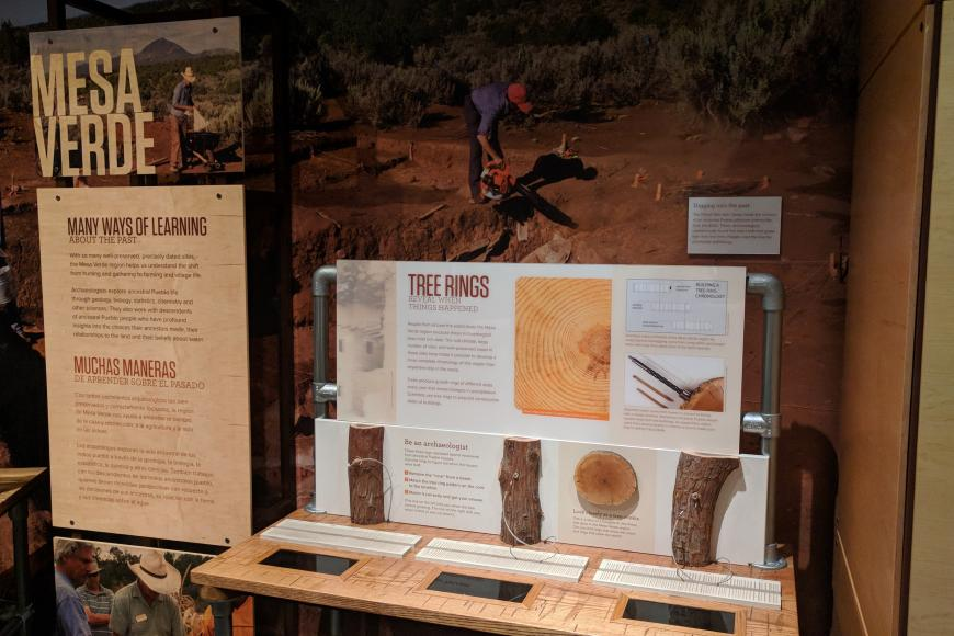 Mesa Verde exhibit panel about tree rings.