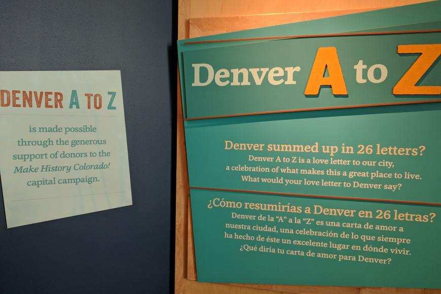 Denver A to Z sign