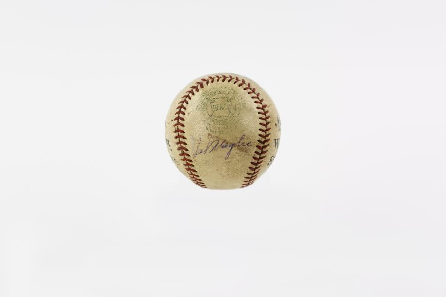 Game-used ball from Don Larsen's perfect game in game 5 of the World Series