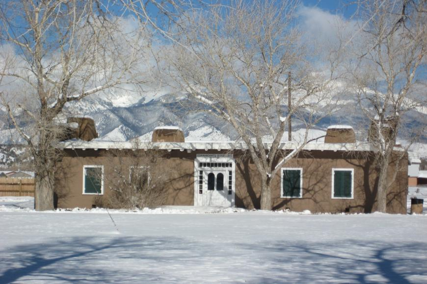 Fort Garland commander's quarters in winter