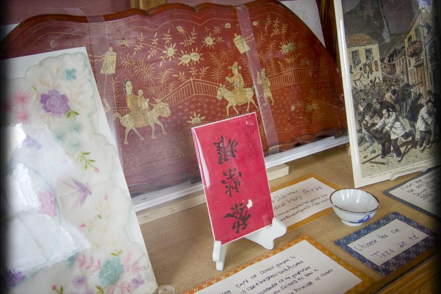 Chinese objects on loan at San Juan Historical Society museum
