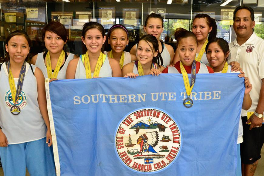 photo of youth at Southern Ute event