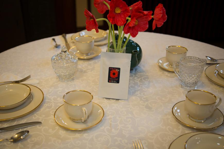 Table with fine china