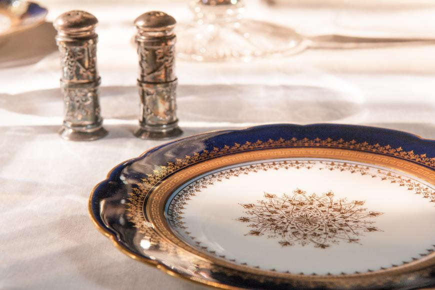 Photo of place setting with fine china