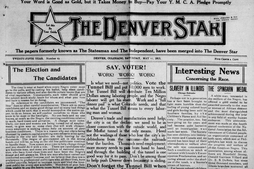 front page of The Denver Star