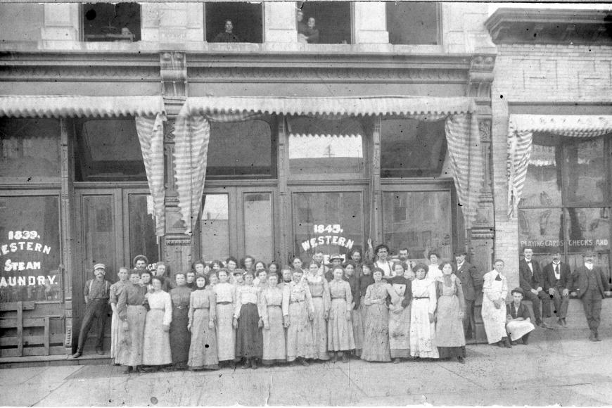Female workers at Western Steam Laundry in Denver