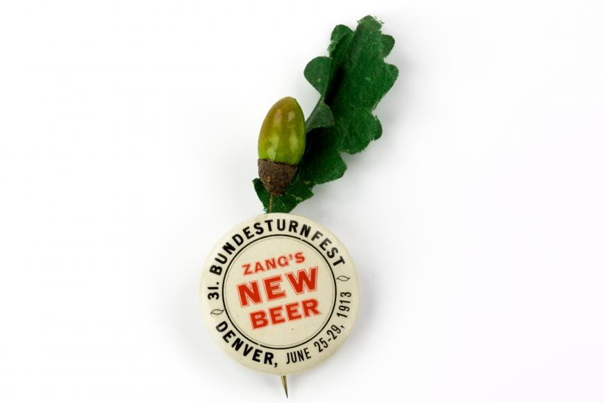 Zang's New Beer promotion button