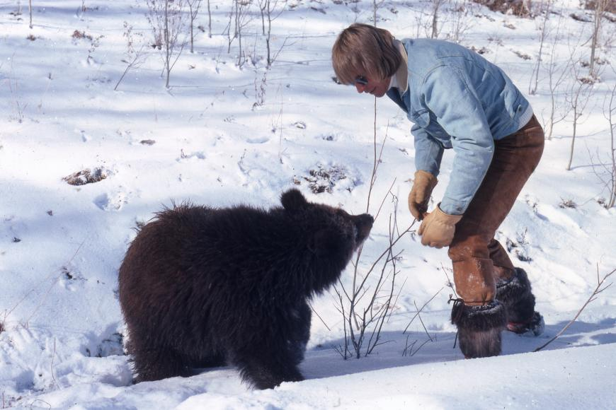 John Denver with bear