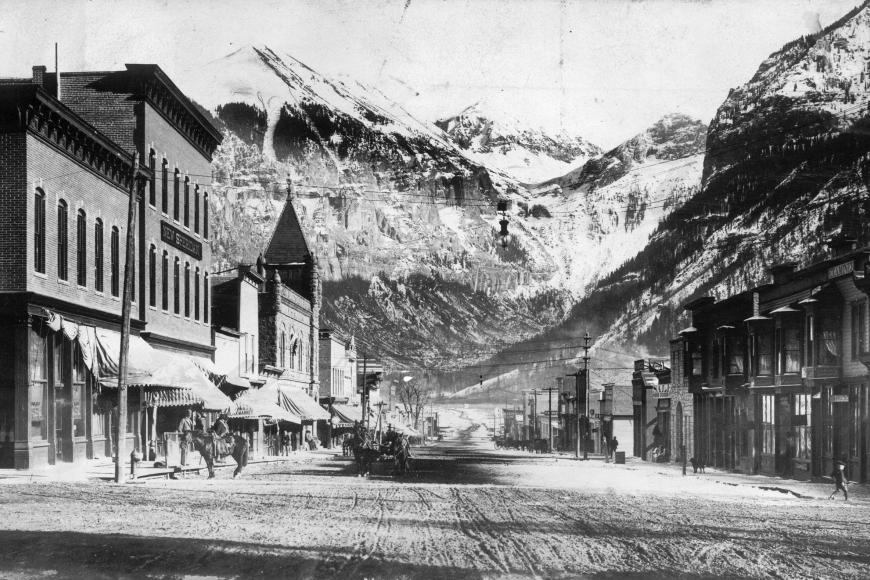 Telluride in winter in 1908