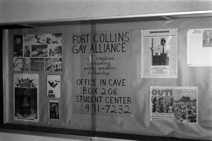 Gay and Lesbian Community Center of Colorado Collection photo of Fort Collins Gay Alliance bulletin board