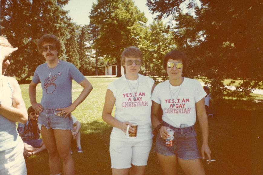 Gay and Lesbian Community Center of Colorado Collection photo of people at Gay Pride in 1979