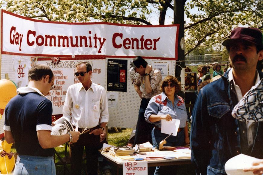 Gay and Lesbian Community Center of Colorado Collection photo of the Gay Community Center booth at the People's Fair in 1979
