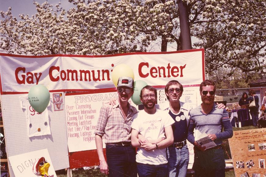 Gay and Lesbian Community Center of Colorado Collection photo of Gay Community Center's booth at the People's Fair in 1979