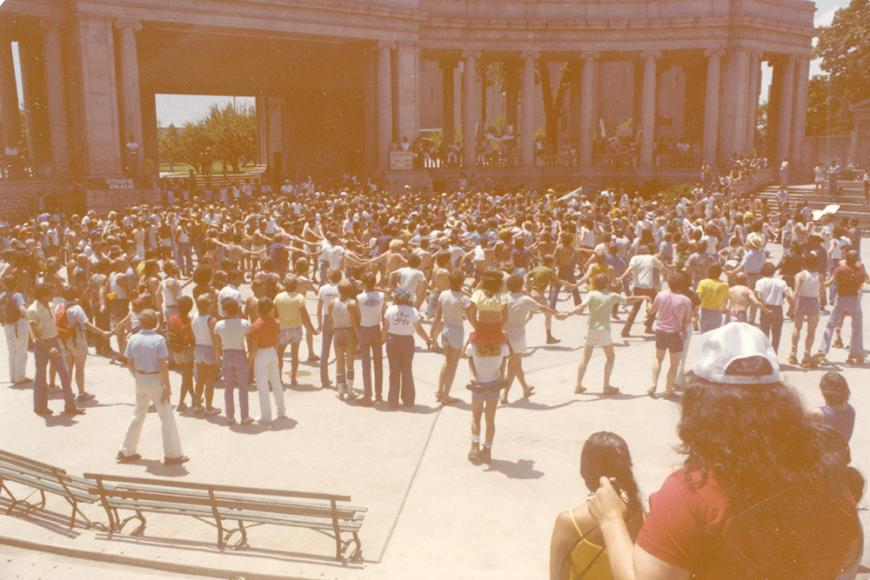 Gay and Lesbian Community Center of Colorado Collection photo of Gay Pride event at Civic Center in 1980