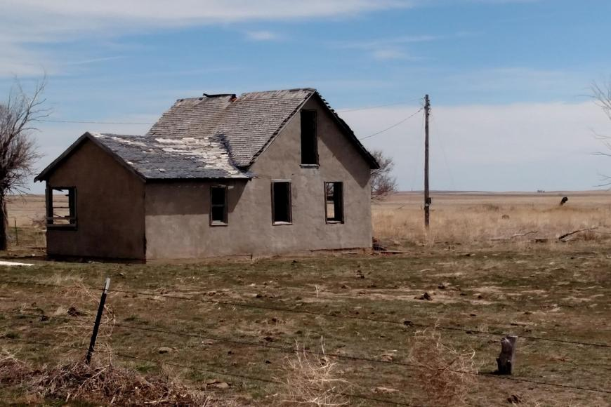 Abandoned house on the Allmer Farm & Ranch.