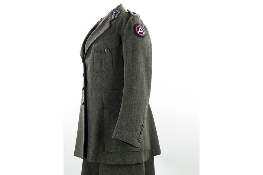 Agnes Vaille's World War I Red Cross uniform, 1918