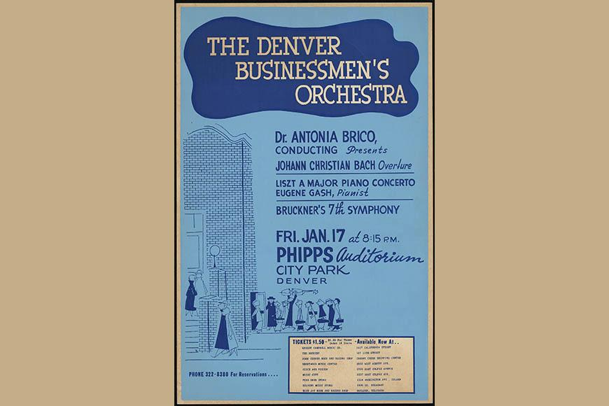 Denver Businessmen's Orchestra poster, 1964