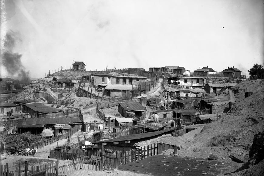Black and white photo of Pueblo, Colorado