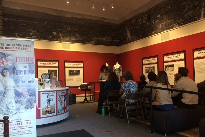 Tour Group at Center for Colorado Women's History at the Byers-Evans House Museum