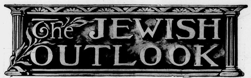 The Jewish Outlook masthead
