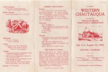 Brochure from Texas-Colorado Chautauqua Opening Season, 1898